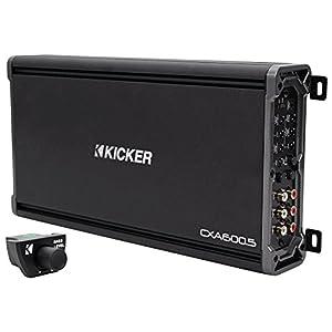 Package: Kicker 43CXA6005 600 Watt RMS 5-Channel Amplifier + Kicker 43CXARC Remote Control For CX or PX SERIES Car Amplifiers