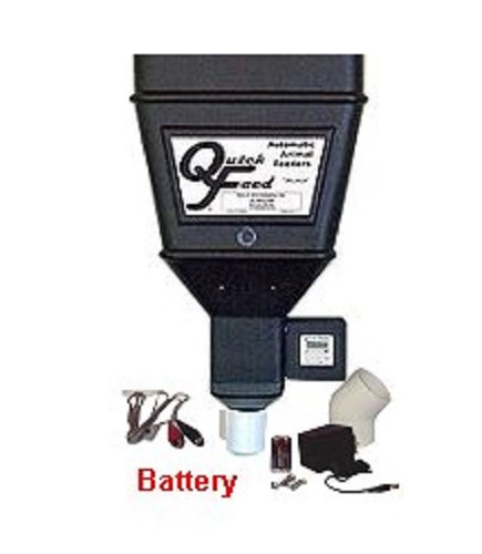Quick Feed Single Feeder with 12-volt BATTERY Adapter by Battery Powered