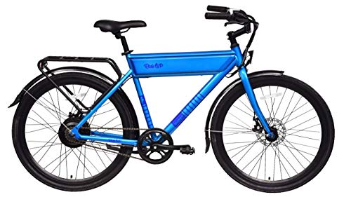 RIDE1UP 500w 48v Electric Bike, Samsung Lithium-Ion, Steel Frame Integrated LCD Display and LED Lights, Cargo Rack (Blue)