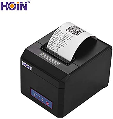 HOIN 80mm USB Thermal Receipt Printer with Auto Cutter High
