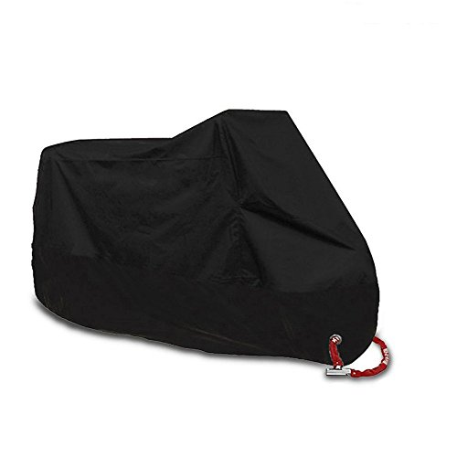 (AlleTechPlus Waterproof Motorcycle Cover, Universally Fits up to 108