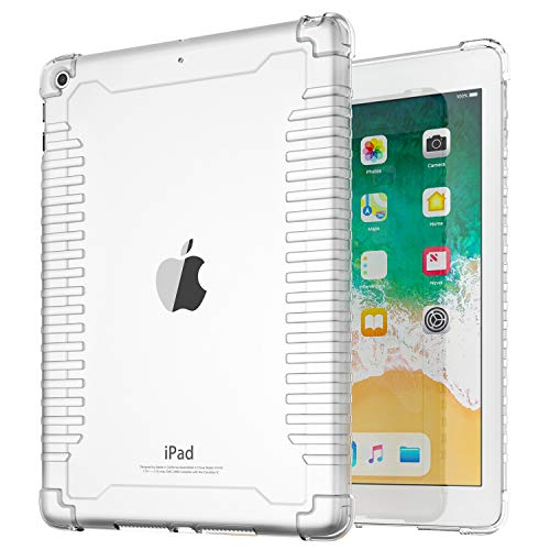 - TiMOVO Cover Compatible for iPad 9.7 2018/2017 Shockproof Case, Impact Resistant Lightweight Flexible Soft Transparent TPU Protective Shell with Air Cushion Fit iPad 9.7