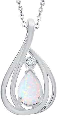 Jewels By Lux 925 Sterling Silver .015 CTW Diamond Infinity-Inspired 18 Necklace