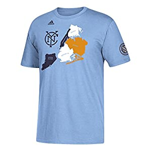 MLS New York City FC Adult Men Secondary Jersey Hook S/Go-To Tee, Large, Light Blue