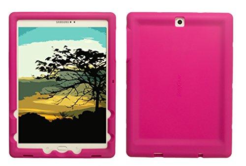 Bobj Rugged Case for Samsung Galaxy Tab S2 9.7 - BobjGear Custom Fit - Patented Venting - Sound Amplification - BobjBounces Kid Friendly (Rockin' Raspberry) (Bumper For Galaxy Tab S)