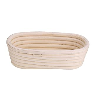 Proofing Basket, Handmade Unbleached Natural Cane Proofing Basket Dough Bread Baking Kit