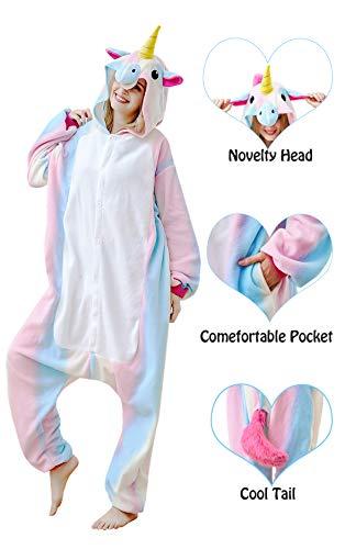 Olivia Coral Animals Pajamas Unisex Adult Christmas Halloween Costume Plush Unicorn Sleepwear