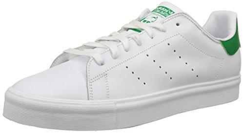 adidas Herren Stan Smith VULC Low-Top Weiß (Ftwr White/Green/Ftwr White)