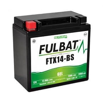 batterie moto wp14bs / ytx14-bs etanche au gel 12v / 12ah