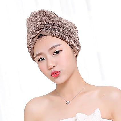 Toalla de baño de microfibra de secado rápido superabsorbente para mujer, toalla de peluquería de