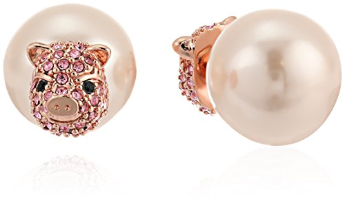 kate spade new york Pink Pave Pig Reversible Earrings