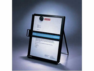 Kensington S7062046B Metal Letter Size Copyholder - 1.5 inch x 12.5 inch 9.3 inch - Metal, Steel - ()