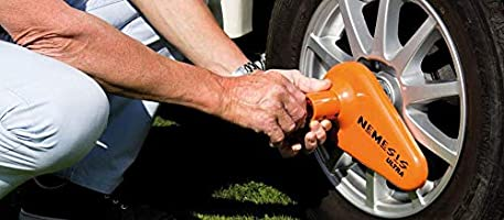 High Security Nemesis Ultra Caravan Wheel Clamp Lock By Purpleline
