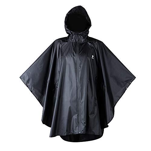 Anyoo Waterproof Rain Poncho Lightweight Reusable Hiking Hooded Coat Jacket for Outdoor Activities (Best Outdoor Coats For Women)