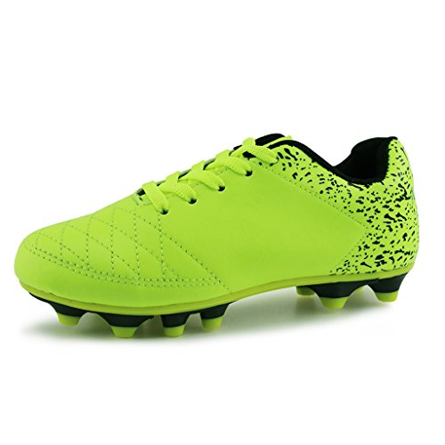 Hawkwell Comfortable Soccer Shoes(Toddler/Little Kid/Big Kid),Green PU,1 M US