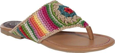 non Crochet Thong Sandal Sandals,Beach Stripe,9 M US ()