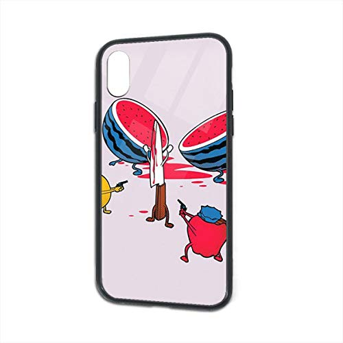 iPhone X Case iPhone Xs Case Hands Up, Don't Move TPU Tempered Glass Back Protective Cover Shock Absorption Bumper