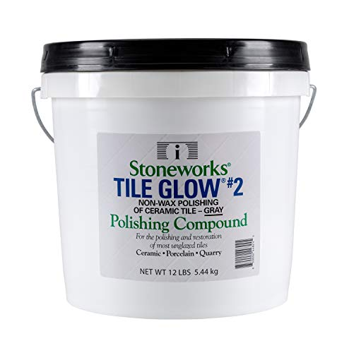 (Tile Glow #2 Gray (12 Lb) Natural, Non-Wax Compound for The polishing of Most unglazed Ceramic, Porcelain and Quarry Tiles, which Gives a Long Lasting Finish and Natural Shine to Tiles )
