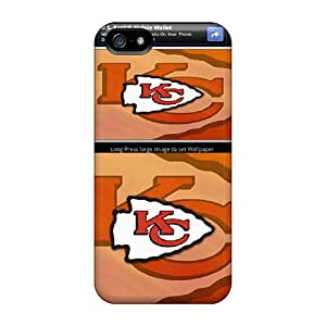 Iphone 5/5s CGV10504ahNN Support Personal Customs Colorful Kansas City Chiefs Pattern Great Cell-phone Hard Cover -DannyLCHEUNG