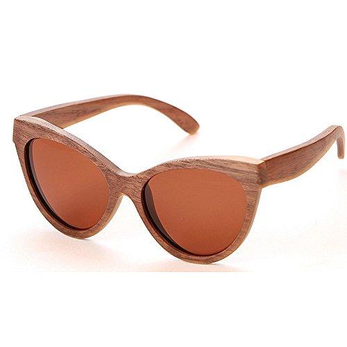 gafas planos sol de de madera de a mano y de para hechas bambú unisex Lentes mujeres sol gafas de los de gran las hombres Gafas Marrón sol sol UV gafas de Protección de polarizadas Gafas tamaño espejados sol w7FIvxqdq