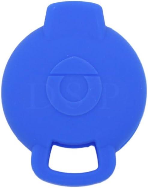 SEGADEN Silicone Cover Protector Case Skin Jacket fit for MERCEDES BENZ SMART 3 Button Remote Key Fob CV9900 Deep Blue