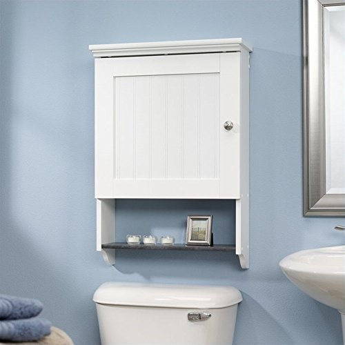 Caraway Wall Cabinet, Soft White + Expert Guide by J and A Accessories