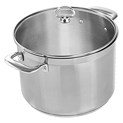Chantal Induction 21 Steel Stockpot with Glass Lid