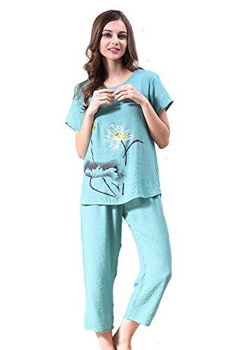 Tonwhar - Pijama - para mujer Verde