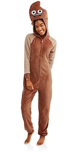 emoji Poop Union Suit Pajamas Halloween Costume Large -