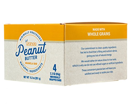 Just Granola Peanut Butter Bars (Pack of 8) - Gourmet, Natural Ingredients, Raw Honey, Prebiotics - Quick Low Calorie Breakfast, Great Lunch Item for Kids, Perfect Snack for Sporting Events - Chewy by Just Granola (Image #2)