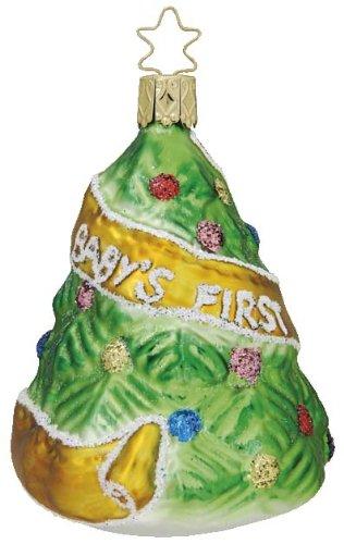 Inge Glas Baby's First Christmas Tree 1-173-07 German Glass Christmas Ornament