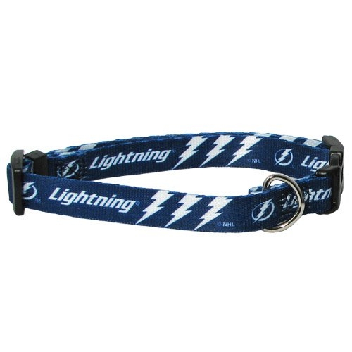 NHL Tampa Bay Lightning Adjustable Pet Collar, Team Color, Medium