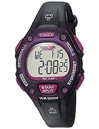 Timex Women's TWH2Z8210 Ironman Classic 30 Mid-Size Black/Purple Resin Strap Watch