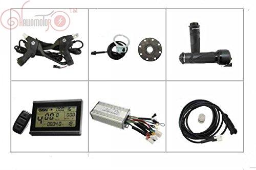 36V 48V 500W Brushless DC Sine Wave Controller + 36V 48V LCD Control Panel + Twist Throttle +Brake Lever+PAS + Speed Sensor