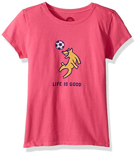 (Life is Good Girls Crusher Graphic T-Shirts Collection,Soccer,Fiesta)