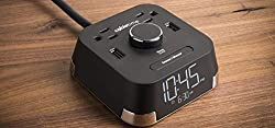 Brandstand BPECT CubieTime Alarm Clock Charger w/2 USB Ports and 2 Outlets Charging Station