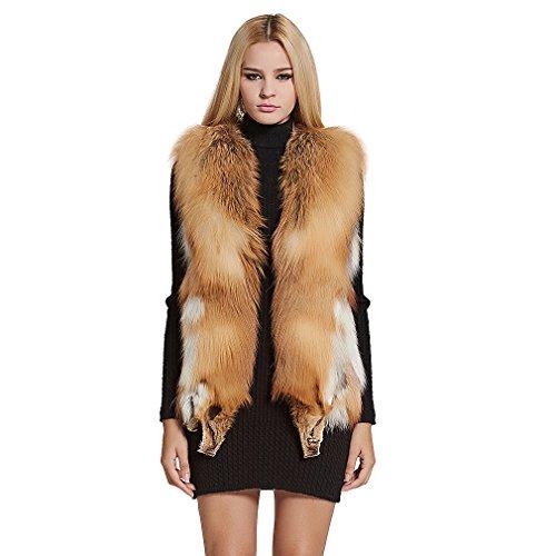 V-Neck Womens Fur Coat - 6