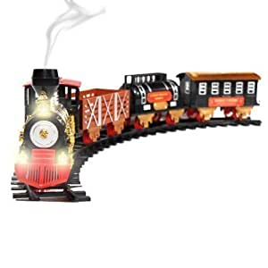 1 48 large scale christmas train set lights sounds and real smoke toys games. Black Bedroom Furniture Sets. Home Design Ideas