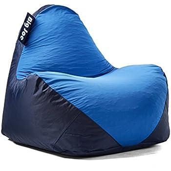 Amazon Com Big Joe 1180285 Warp Bean Bag Black Dark Grey