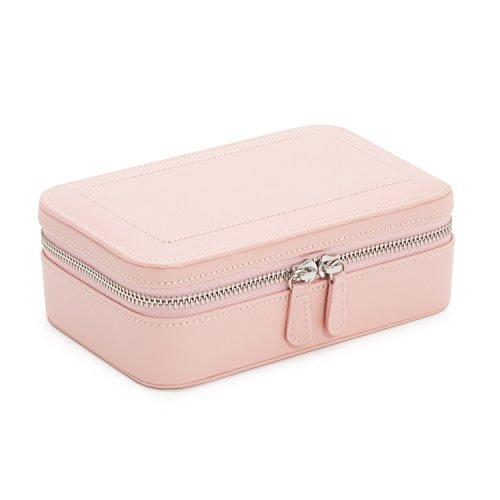 WOLF 392215 Sophia Zip Case Jewelry Box, Rose Quartz