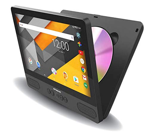 DVD Portable 9 inch & Android 7.0 Tablet Polaroid 16GB Rechargeable PDT9000TL WiFi Bluetooth with Headrest Mounting Kit