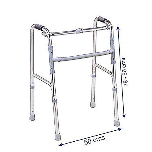 Sr Biotech Aluminium Light Weight Chrome Folding Walker
