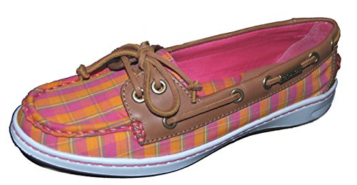 Coach Richelle Plaid Mat Calf Topsider Boat Shoes 7.5 M eBLNNaOwc