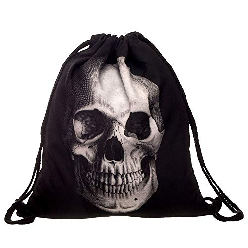 Non-Woven Bags Drawstring Unisex Bag 3D Digital Print Bouquet Pocket Backpack Party Supplies Traveling and Storage HunYUN