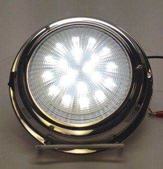 Pactrade Marine Boat Lens LED Accent Ceiling Dome Light Stainless Steel  Toggle Switch
