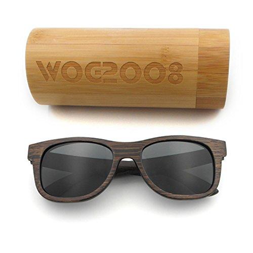 Polarized Bamboo Sunglasses Mens Womens Lightweight Wood Wayfarer Shades that - Sunglasses Floats