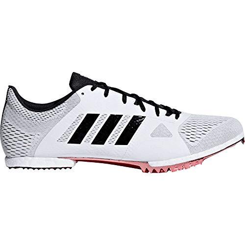 adidas Adizero MD Spike Shoe - Unisex Track & Field White/Core Black/Shock Red
