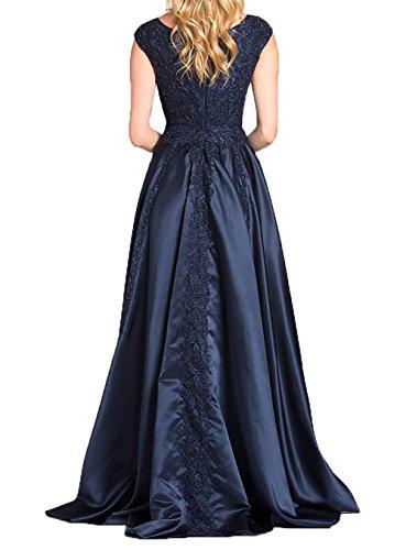 Spitze 2018 Blau Promkleider Elegant Neu Partykleider Damen Charmant Navy Ballkleider mit Abendkleider Brautmutter OUqvnw
