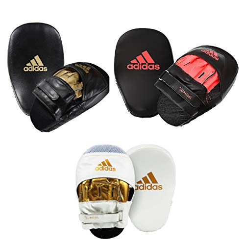 adidas FLX 3.0 Speed Punch Mitts, White/Gold