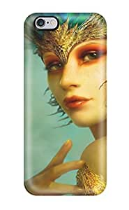 For Iphone Case, High Quality Girl With Blue Feathers Fantasy Women Abstract Fantasy For Iphone 6 Plus Cover Cases